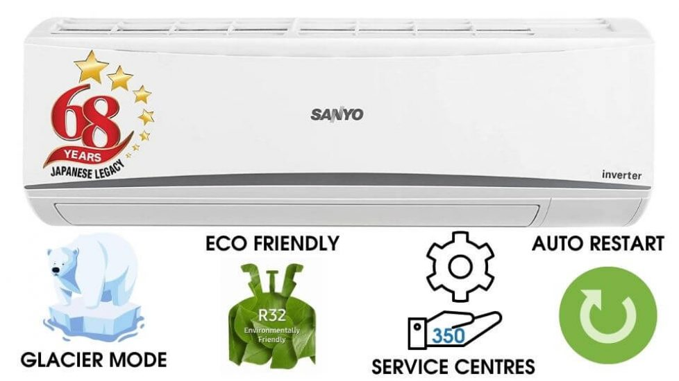 Best 1 Ton Split Inverter AC - Sanyo 1 Ton 3 Star Inverter Split AC