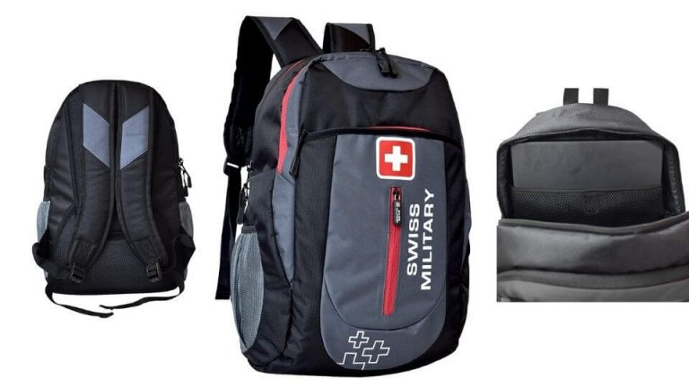 Swiss Military Grey and Black Laptop Backpack