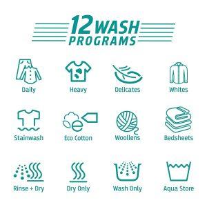 Whirlpool Elite 12 Wash program
