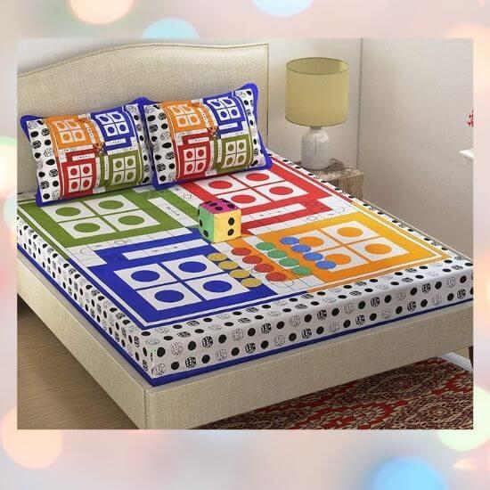 Best Gift for Kids - Ludo Print Bedsheet