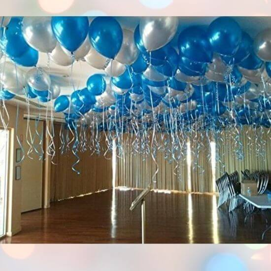 Best Gifts for Children - Metallic HD Toy Balloons Blue and Silver