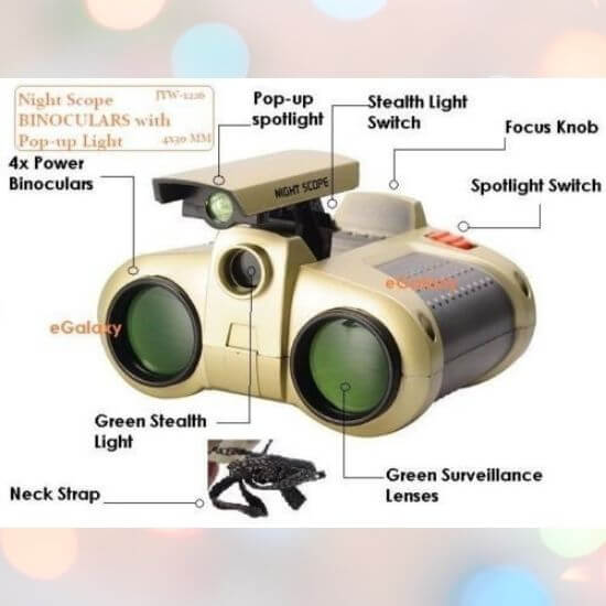 Best Gifts for Children - Toy Binocular with Pop-Up Light