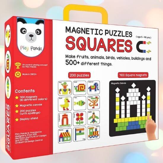 Best Gifts for Kids - Magnetic Puzzles Squares