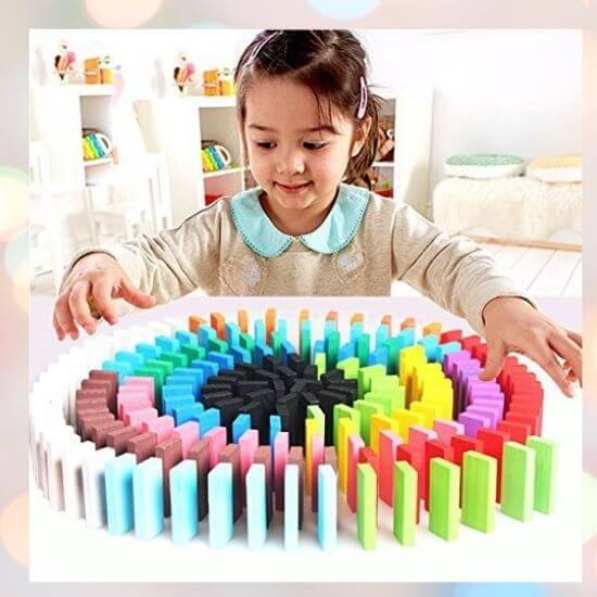 Best Gifts for Kids - Wooden Learning Game Set -10 Colors