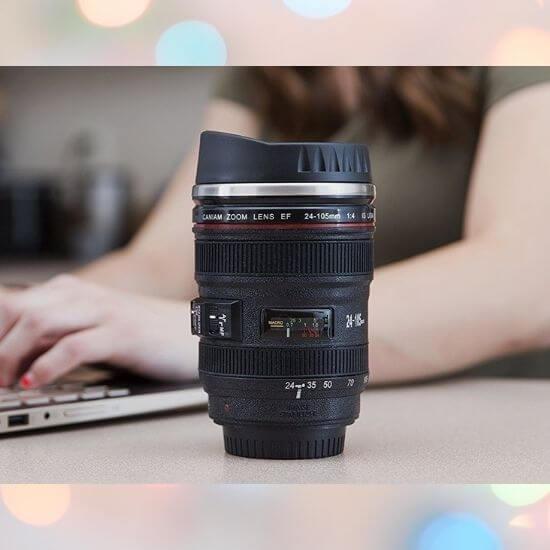 Gifts for Girls - Camera Lens Shaped Coffee Mug