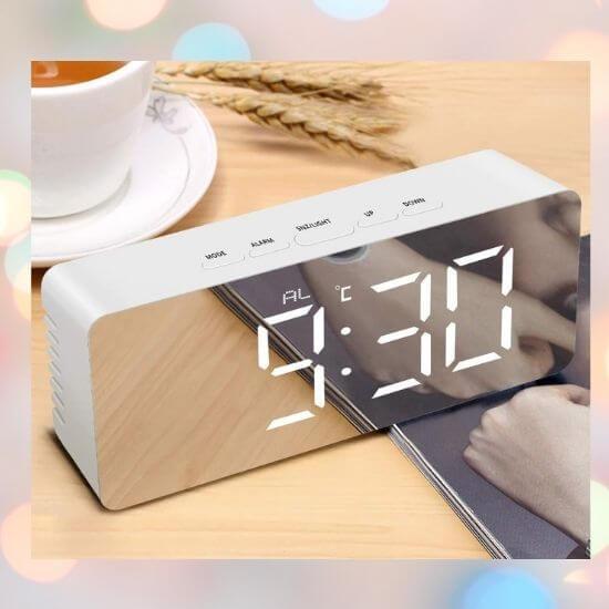 Gifts for Girls - Digital Mirror LED Alarm Clock