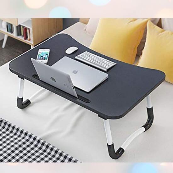 Gifts for Men - Wooden Laptop Desk for Bed