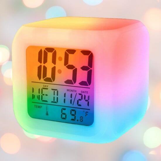 Gifts for Teenager Boys - Colour Changing Alarm Clock