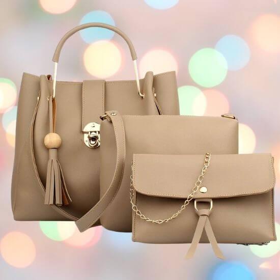 Gifts for Women's Handbag With Sling Bag & Wristlet (Set of 3)