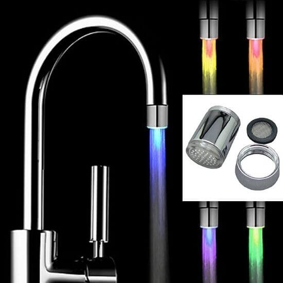 Useful Kitchen Gadgets - Water Faucet Light With Adapter