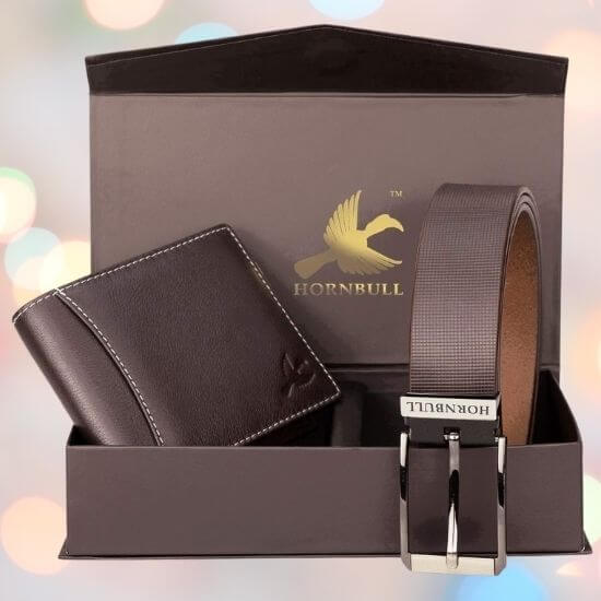 Wallet and Belt Gift Combo