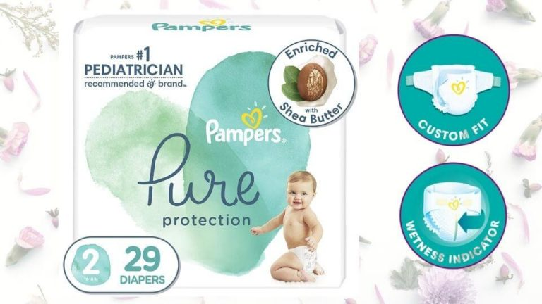 Pampers pure protection diapers (S Size)