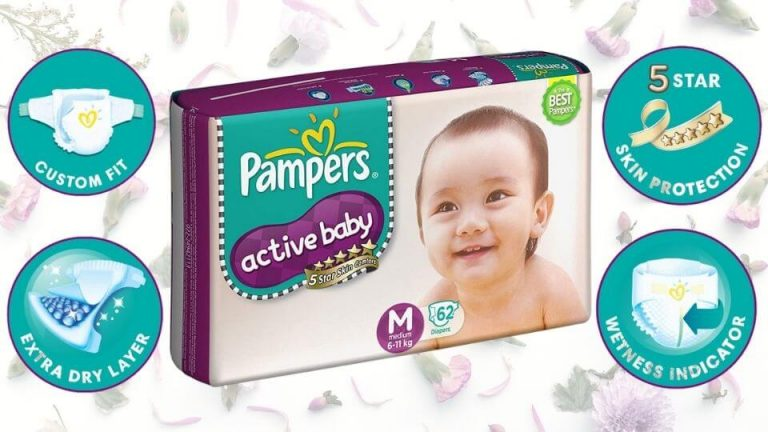 Pampers Active Baby Diapers (M Size)
